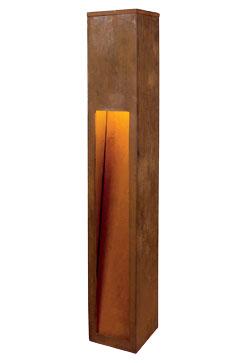 229411 rusty slot 80 outdoor bollard lights aloadofball Choice Image